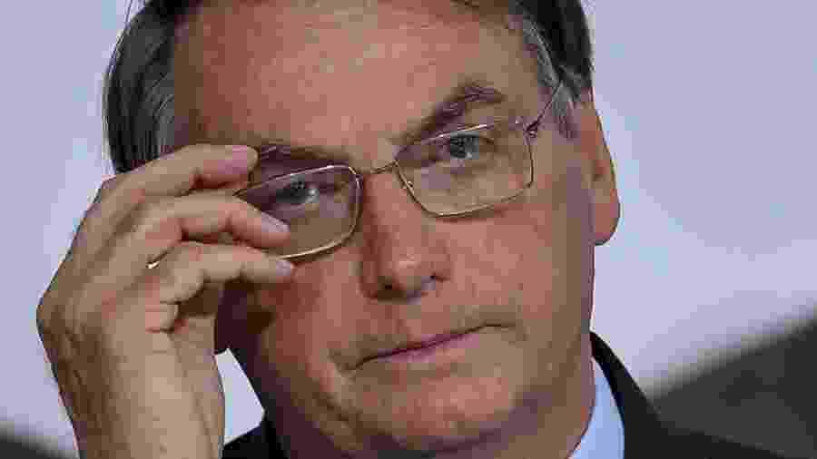 04/03/2020 - Jair Bolsonaro no lançamento da Agenda + Brasil - Mateus Bonomi/AGIF