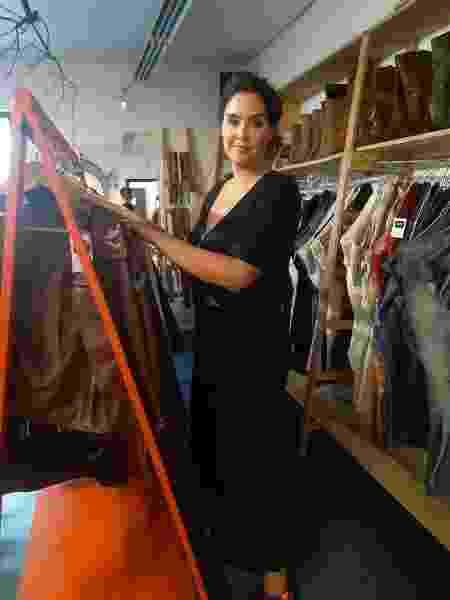 Junia Pereira, dona de uma loja na zona oeste de São Paulo, antes da quarentena - Arquivo pessoal
