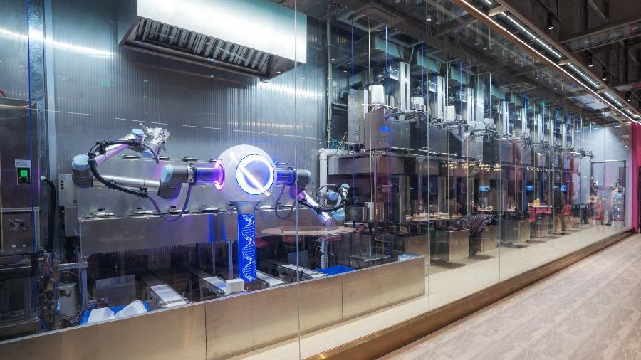 Esta é parte da cozinha automatizada do restaurante chinês - Divulgação/ Country Garden Holdings