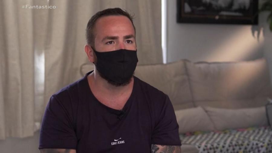 """Leniel Borel, pai de Henry, em entrevista ao """"Fantástico"""" - Reprodução/TV Globo"""