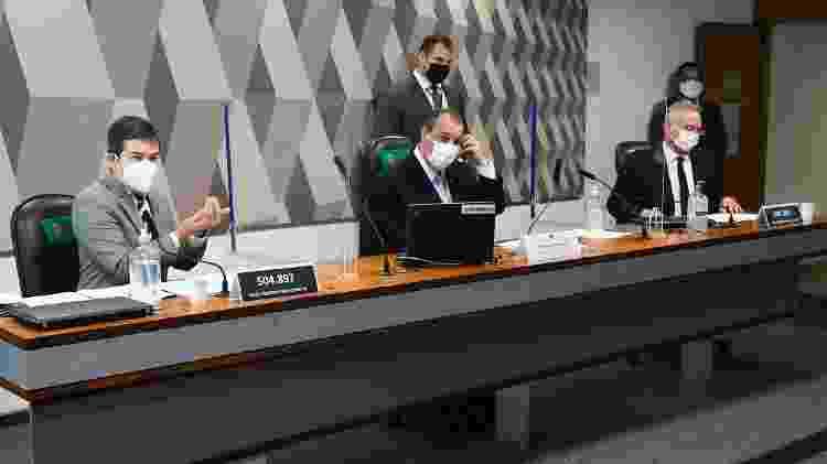 Cúpula da CPI da Covid, senadores Randolfe Rodrigues, Omar Aziz e Renan Calheiros - Marcos Oliveira/Agência Senado - Marcos Oliveira/Agência Senado