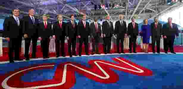 Pré-candidatos do Partido Republicano se preparam para debate - Sandy Huffaker/Getty Images/AFP