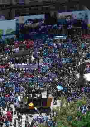 8.nov.2016 - Servidores do Estado do Rio têm ido às ruas desde o início do mês em protesto contra o pacote de auteridades - Fotoarena/Ag. O Globo