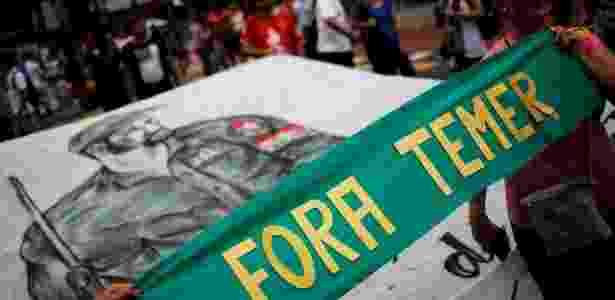 Avenida Paulista, em São Paulo, recebeu manifestação contra Temer no domingo (27) - Nacho Doce/Reuters