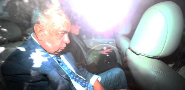 29.mar.2017 - Jorge Picciani, deputado estadual pelo PMDB e presidente da Alerj, é conduzido coercitivamente à sede da PF durante a operação O Quinto do Ouro