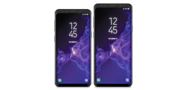 Supostas imagens vazadas dos Galaxy S9 e S9 Plus