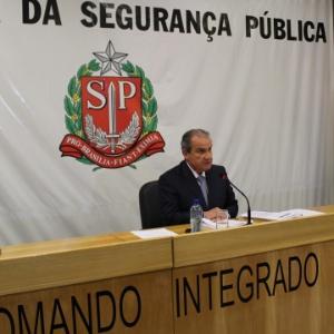 Secretário da Segurança Pública de São Paulo, Mágino Barbosa Filho, divulga dados da criminalidade no mês de maio em SP - Divulgação/Rodrigo Paneghine/SSP-SP