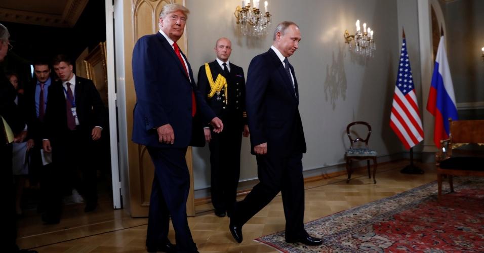 Presidente dos EUA, Donald Trump, encontra-se com o presidente da Rússia, Vladimir Putin, em Helsinque, Finlândia
