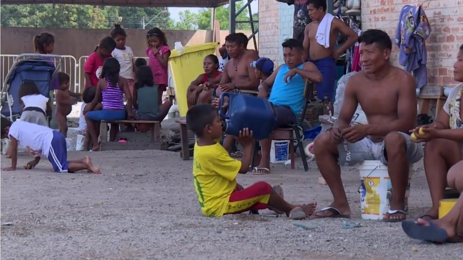 Índios venezuelanos da etnia Warao são cada vez mais presentes no norte do Brasil em cidades como Belém, Manaus e Roraima - Reprodução/AFP