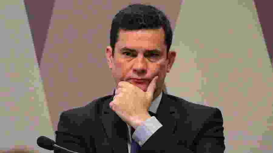 Moro responde a perguntas sobre as mensagens que teriam sido trocadas entre ele e procuradores da Lava Jato - Fátima Meira/Futura Press/Estadão Conteúdo