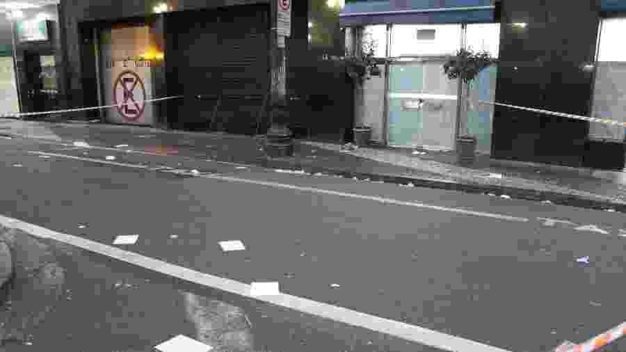 Local do atropelamento de três moradores em situação de rua, na Rua Conselheiro Nébias com Avenida São João em São Paulo - William Moreira/Futura Press/Estadão Conteúdo