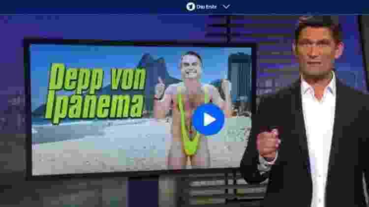 'Bobão de Ipanema': TV pública alemã fez sátira sobre visão de Bolsonaro sobre meio ambiente - Reprodução ARD