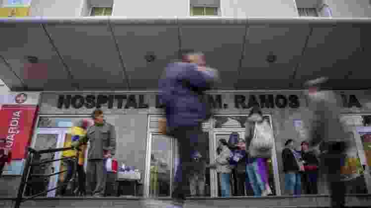 Hospital argentino, em foto de arquivo; país tem maior proporção de médicos - EPA - EPA
