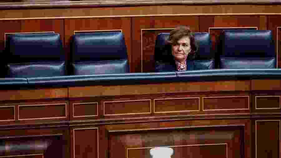 Carmen Calvo segue em quarentena em um hospital de Madri desde domingo (22) - Mariscal / EFE