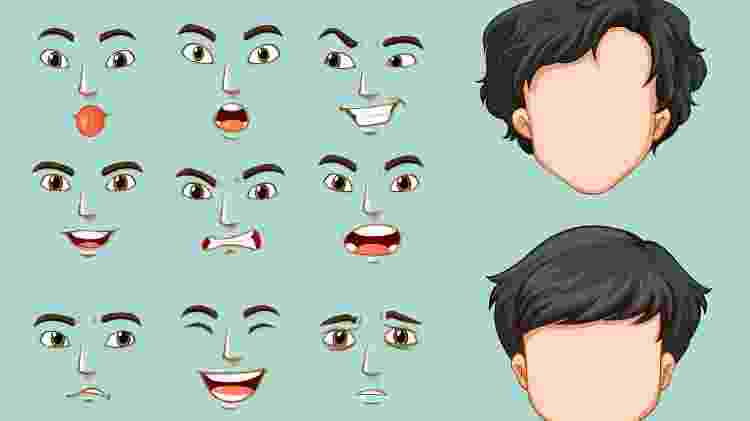 Ilustração - Expressão facial e rosto - brgfx/ Freepik - brgfx/ Freepik