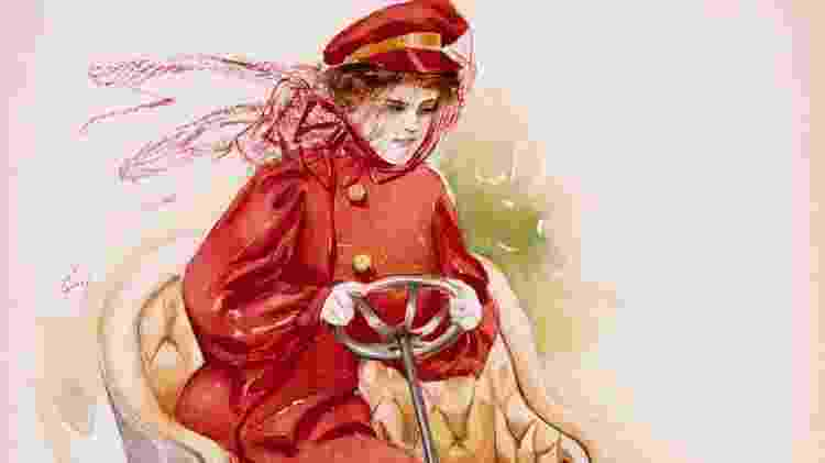No início do século passado, mulheres usavam véu para dirigir - Getty Images - Getty Images