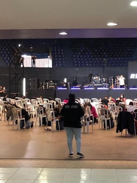 Templo cristão recebeu fiéis no primeiro sábado da fase vermelha no estado de SP - Anahi Martinho/UOL
