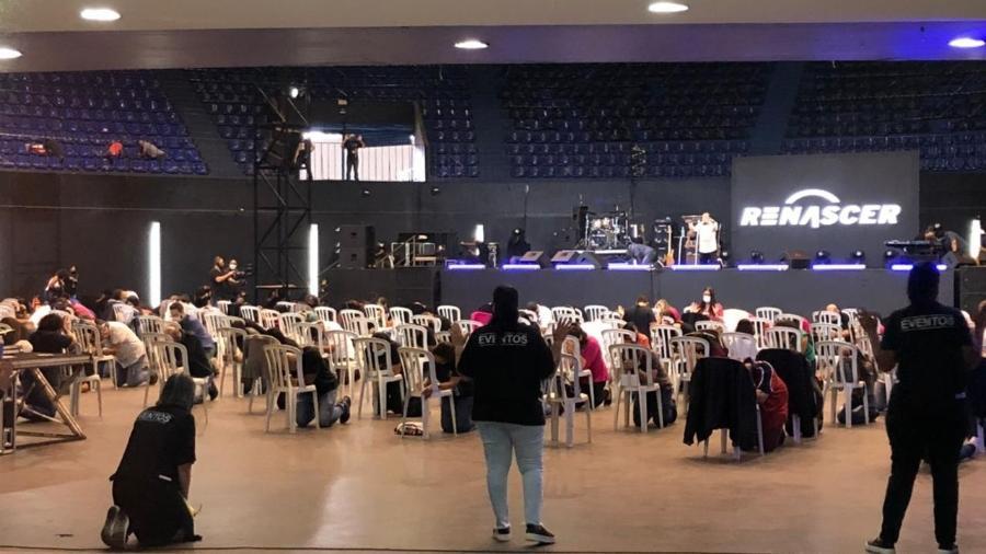Templo cristão recebeu fiéis no primeiro sábado da fase vermelha no estado de São Paulo - Anahi Martinho/UOL