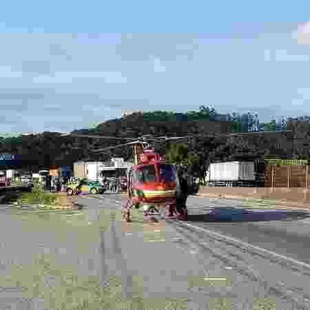 acidente - Divulgação/Corpo de Bombeiros - Divulgação/Corpo de Bombeiros