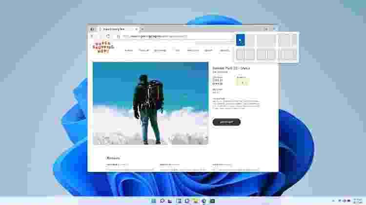 Novo layout pré-definido de dimensionamento de janelas no Windows 11 - Divulgação - Divulgação