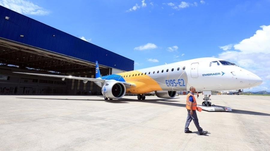 Lançamento do avião E195-E2, da Embraer  - Ricardo Matsukawa/UOL