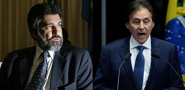 Valdir Raupp (à esq.) e Eunício Oliveira eram o presidente e tesoureiro do PMDB em 2011