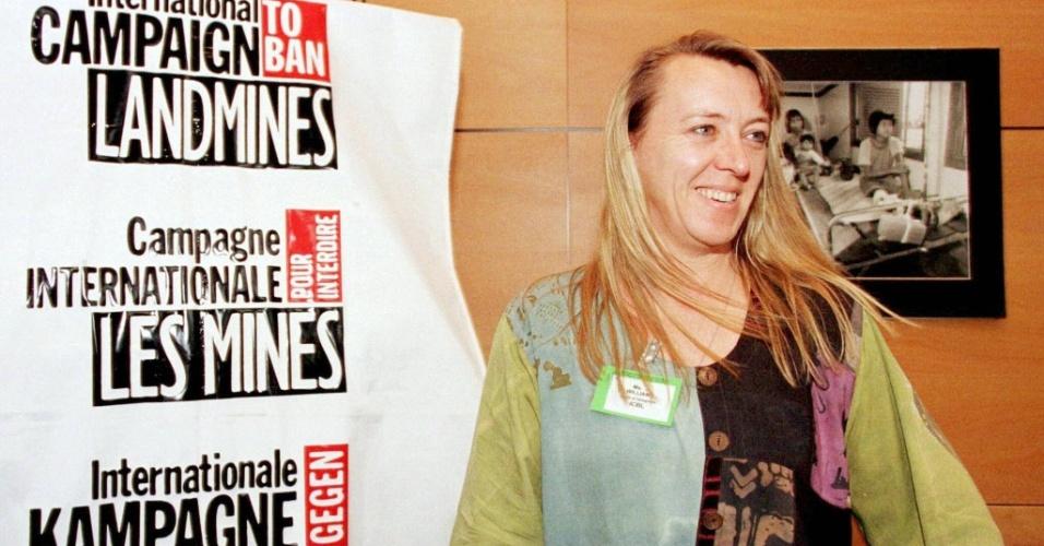 1997 - Jody Williams (EUA) - Ativista premiada pelo seu trabalho em defesa da proibição do uso de minas antipessoais