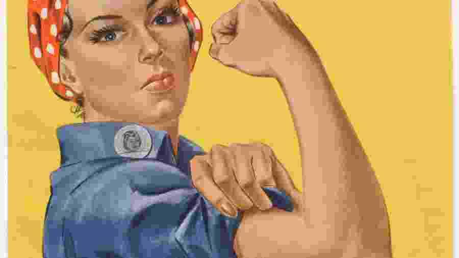 """Cartaz """"We Can Do It"""", da Segunda Guerra Mundial, com a personagem Rosie the Riveter - AFP"""