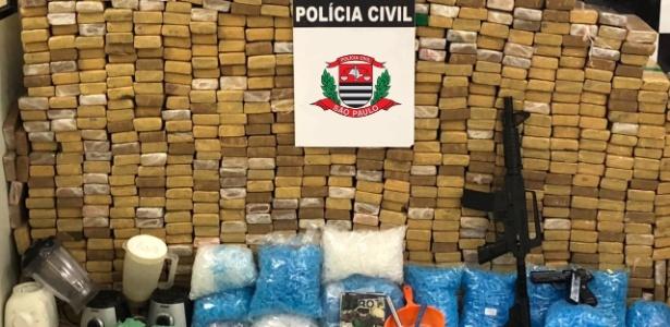 25.abr.2018 - Polícia apreendeu mais de 600 kg de drogas em casa na zona leste de SP