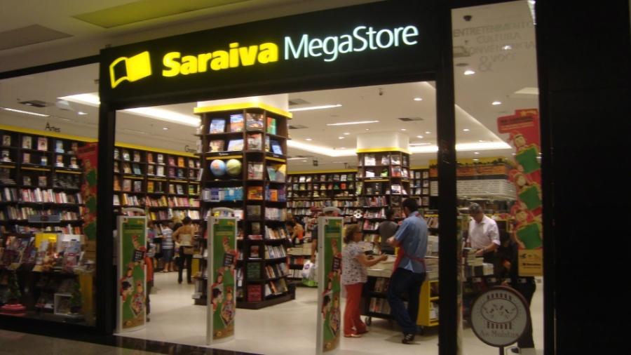 Fachada de loja da Livraria Saraiva - Reprodução