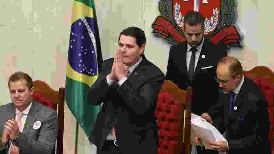 O deputado Cauê Macris é eleito presidente da Assembleia após cerimônia de posse de deputados e eleição à presidência da Assembleia Legislativa de São Paulo (ALESP) - GABRIELA BILÓ/ESTADÃO CONTEÚDO