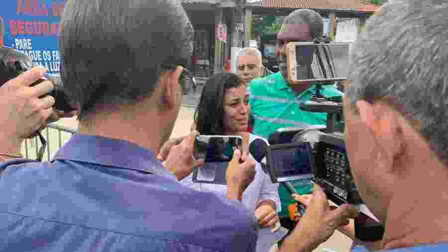 Danielle Estevão Fortes dá entrevista após deixar a prisão no Rio de Janeiro, no ano passado - Divulgação