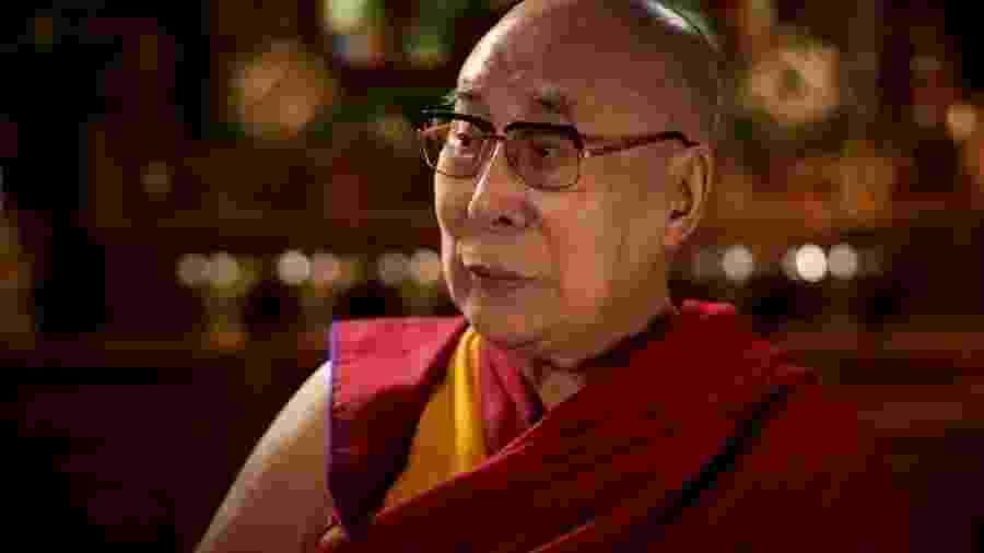 Dalai Lama durante a conversa com a BBC - BBC