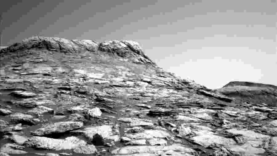 cenário desolador vira poesia pelas lentes da Curiosity - NASA/JPL-Caltech