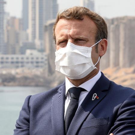 Presidente da França, Emmanuel Macron, foi diagnosticado com a covid-19 - Reprodução