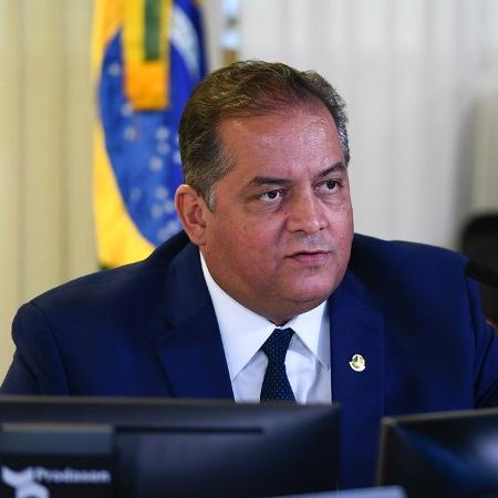 O senador Eduardo Gomes (MDB-TO), líder do governo no Congresso, em sessão deliberativa - Marcos Oliveira/Agência Senado