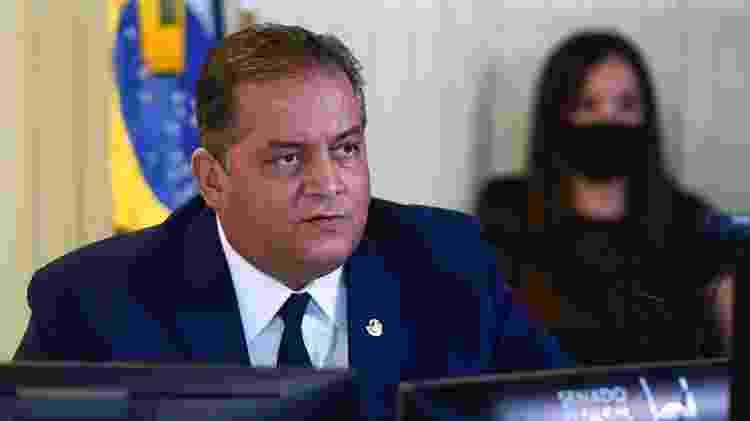 O senador Eduardo Gomes (MDB-TO), líder do governo no Congresso, em sessão deliberativa - Marcos Oliveira/Agência Senado - Marcos Oliveira/Agência Senado
