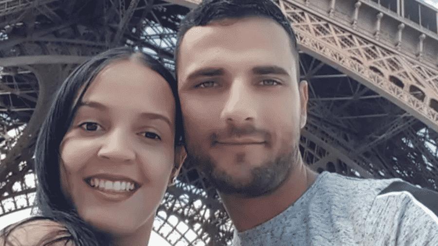 Imagem do casal Franciele Alves e Rodrigo Martin publicada pelo paranaense nas redes sociais - Reprodução