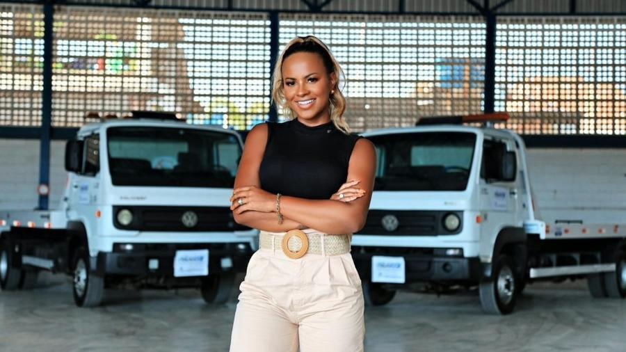 A empresária Priscila Santos se tornou a primeira empreendedora da família - Divulgação/Ygor Marques