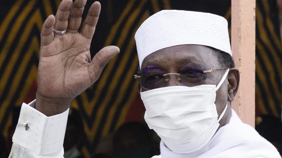 11.abr.2021 - Idriss Deby Itno, presidente do Chade, estava no poder há 30 anos e morreu após ser ferido em combate  - Marco Longari/AFP