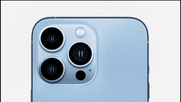 iPhone 13 Pro e 13 Pro Max contam com três câmeras principais - Reprodução - Reprodução