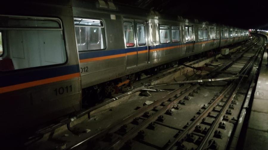 Funcionamento do metrô em Brasília deve ser afetado nesta terça-feira por necessidade de manutenção após descarrilamento que assustou passageiros - Reprodução/redes sociais