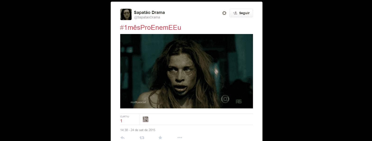 A apenas 30 dias para o Enem (Exame Nacional do Ensino Médio) 2015, a hashtag #1mêsProEnemEEu está no primeiro lugar nos assuntos mais comentados do Twitter no Brasil - Reprodução/Twitter