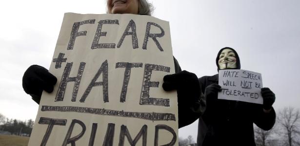 24.jan.2016 - Mulheres protestam contra o candidato republicano ao cargo de presidente dos EUA na eleição de novembro - Jim Young/Reuters
