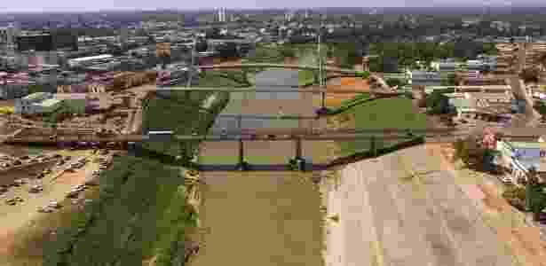 Nesta quinta-feira (4),  o rio Acre atingiu 1,41 metros, o menor nível desde 1970 - Pedro Devani/Governo do Acre