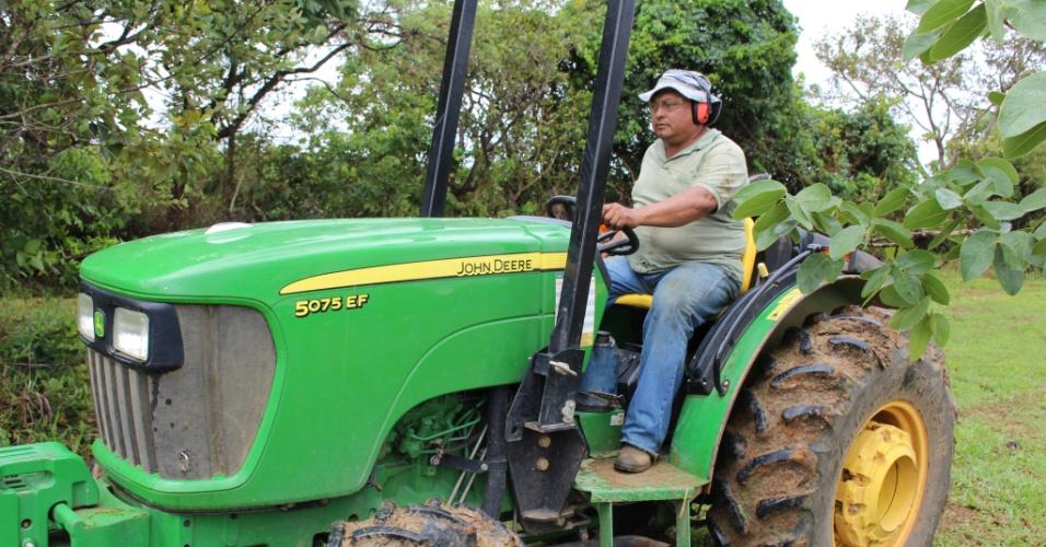Tratorista há 22 anos, João Batista Moraes pediu as contas de emprego anterior porque não se deva bem com gerente e consegui recolocação quase imediata. Profissão tem uma das demanda mais altas de Cristalina