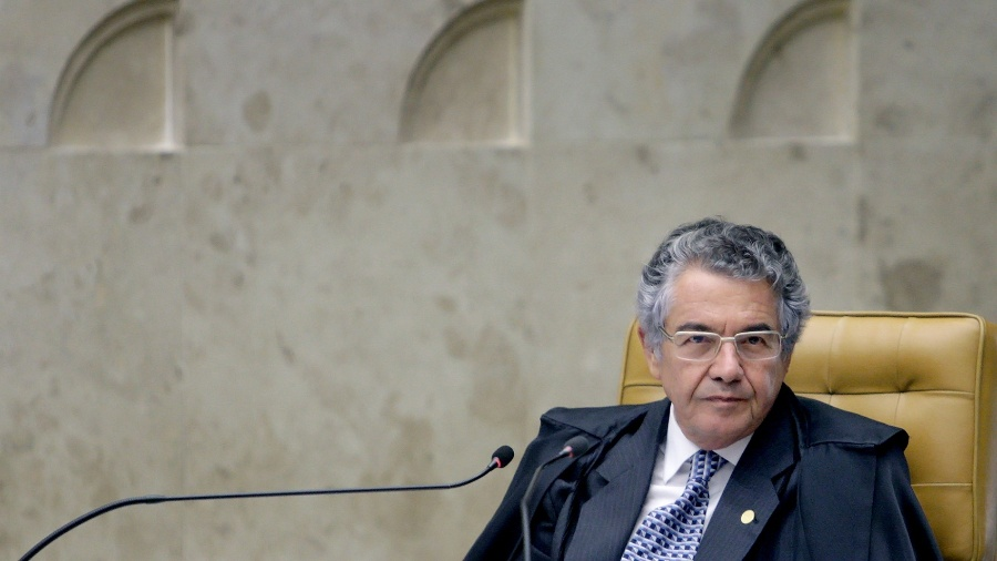 Ministro Marco Aurélio durante sessão do STF - Fellipe Sampaio - 5.abr.2017/SCO/STF