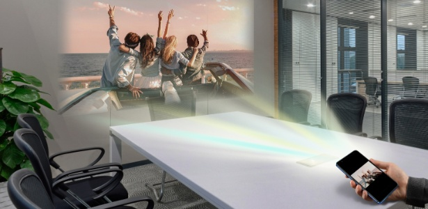 Quantum V tem projetor a laser integrado