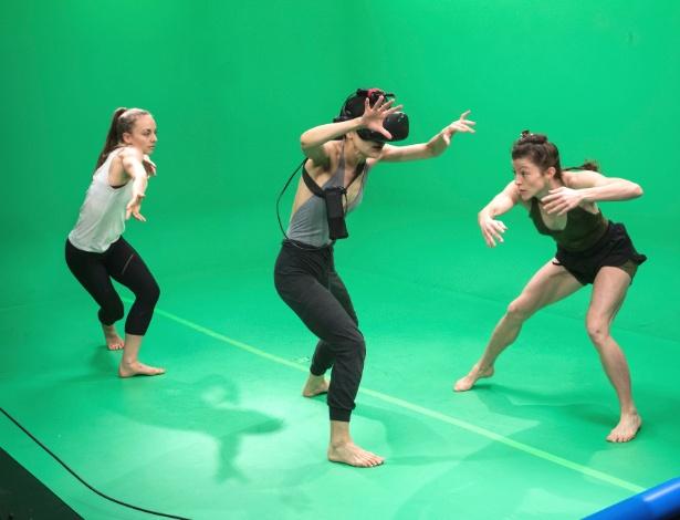 Dançarinos da companhia de dança de Martha Graham nos escritórios do Google em Nova York