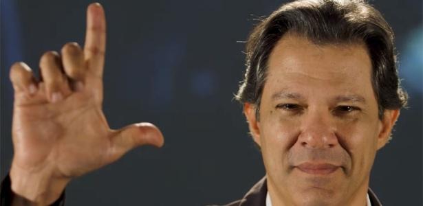 Haddad assumiu a cabeça de chapa da candidatura do PT no lugar de Lula